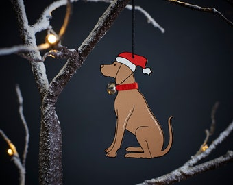 Vizsla Christmas tree decoration
