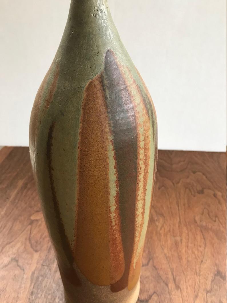Mid Century Modern Tall Sculptural Vase
