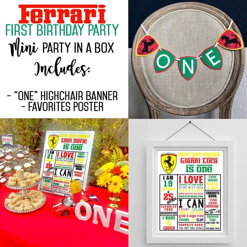 FERRARI PARTY Ferrari Birthday Decorations First