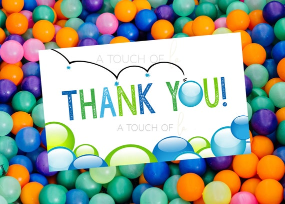 Bouncy Ball Party Thank You Notes Green and Blue Bouncy Ball Birthday Party Thank You Notes Ball Party Thank You Notes Bouncy Ball Party