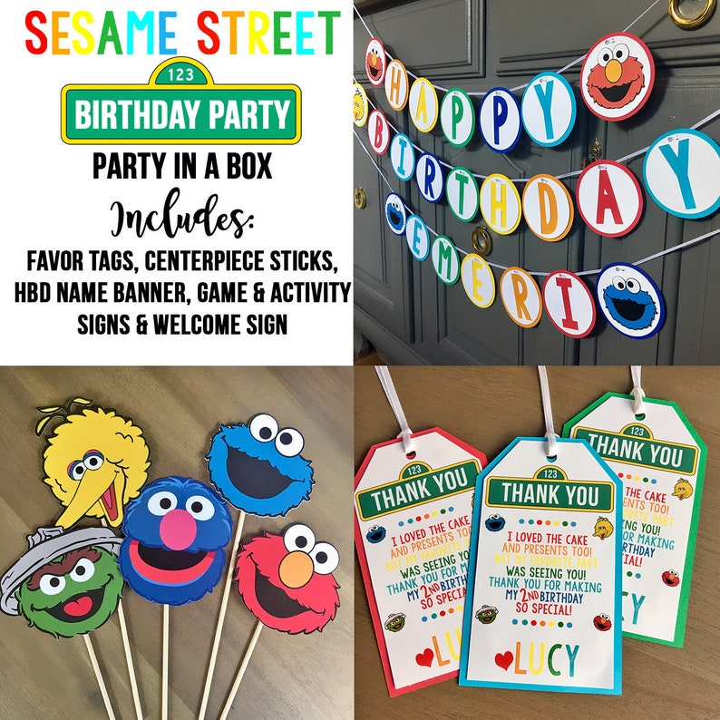 Sesame Street Party In A Box Birthday