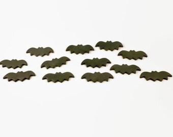 24 Bat Cupcake Toppers, Halloween cupcake toppers, sugar bats