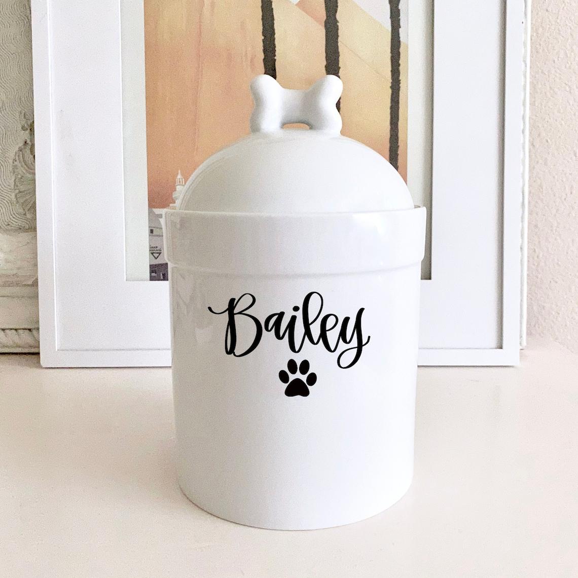 Dog Treat Container Personalized  Large Dog Treat Jar  image 0