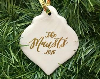 Family Christmas Ornament - Porcelain Christmas Ornament- Family Christmas Gift - Christmas Decoration - Christmas Ornaments