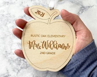 Personalized Teacher Ornament - Apple Ornament - Personalized Teacher Christmas Gifts  - Custom Teacher Gift - Teacher Appreciation