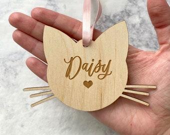 Custom Cat Ornament - Cat Lover Gift - New Kitty Gift - Cat Whiskers - Cat Christmas Decor