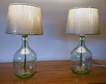 Table Lamp, Bedside Lamp, Small Table Lamp, Bedroom Lamp, Glass Bottle Lamp,  Modern Decor, Bottle Lamp, Set Of 2 Table Lamps, Glass Lamp