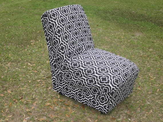 Swell Chair Accent Chair Black And White Chair Reupholstered Chair Upcycled Living Room Chair Bedroom Chair Fabric Chair Machost Co Dining Chair Design Ideas Machostcouk