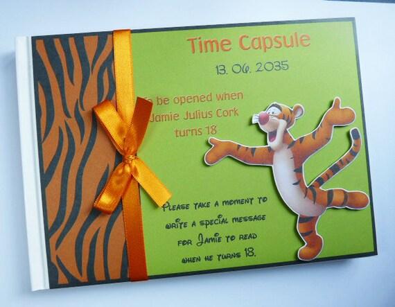 Winnie The Pooh Tigger Birthdaybaby Shower Guest Book Etsy