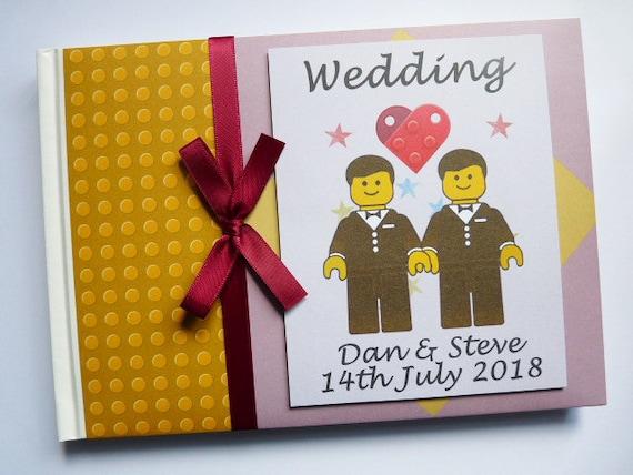 Matrimonio Tema Lego : Lego a tema matrimonio compleanno guest book qualsiasi etsy