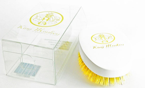 King Monkey Products | Boar Bristle Hair Brush - Hard White