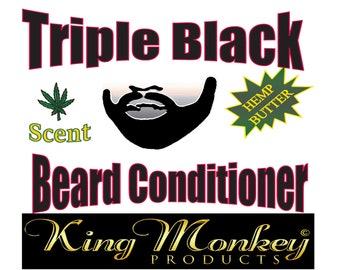 BEARD CONDITIONER: Triple Black Leave In Beard Conditioner for Men by King Monkey Products