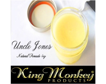 POMADE: Uncle Jones All Natural Hair Pomade 4 oz By King Monkey Products