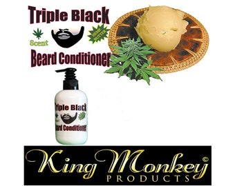 Natural Leave-In Beard Conditioner for Men Triple Black Beard Conditioner for Men - Scented By King Monkey Products