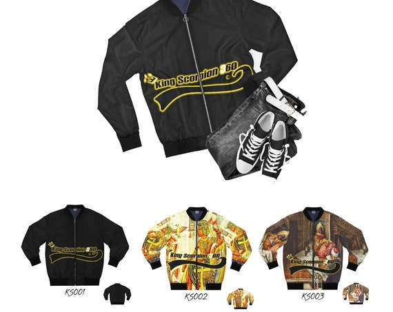 Men's Designer AOP Bomber Jacket | King Scorpion 360 Jacket