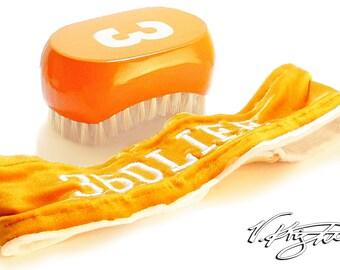 Florida Orange 540 Wave Brush | Florida Orange 360 Life Head Band | Custom 540 Wave Brush Set by V. Knight