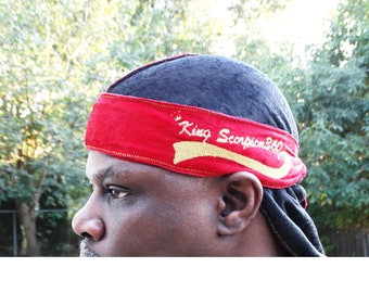 VELVET DU-RAG-Multi Color Reversible Crushed Velvet Designer Fat Lace Custom DuRag, Hair Wrap, Turban