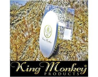 KING MONKEY PRODUCTS Model 1776 - Limited Edition White Hard Boar Bristle Unisex Cushion Hair & Beard Brush