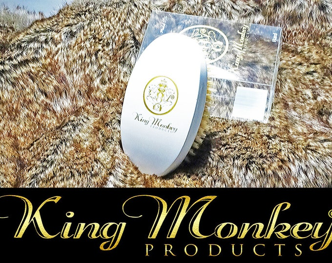 Featured listing image: White Hard Boar Bristle Unisex Cushion Hair & Beard Brush King Monkey Products Model 1776 White Cushion Hair Brush Great Price Great Quality