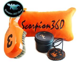 King Scorpion 360 Florida Orange Medium Hard Wave Brush Set