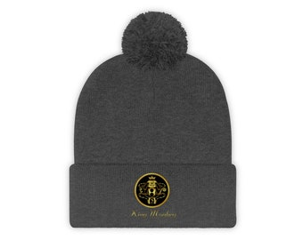 100% Polyester Pom Pom Beanie By King Monkey Products