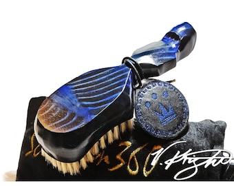 King Scorpion 360 Batman Blue Medium Hard Wave Brush | Wave Brush Only
