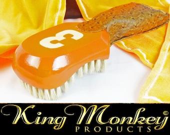Florida Orange 360 Wave Brush 9 Row Tight Hard King Scorpion 360 Wave Brush Club Style Hair Brush - King Scorpion Fat Lace Velvet Du-rag