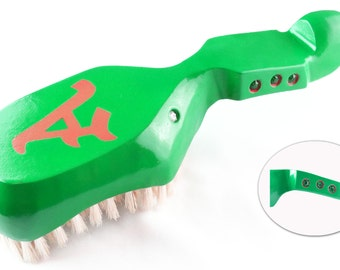 King Scorpion 360 Green Custom Made Wood 360 Wave Hair Brush Hard 10 Row Loose
