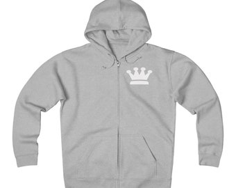 Unisex Heavyweight Fleece Zip Hoodie By King Monkey Products