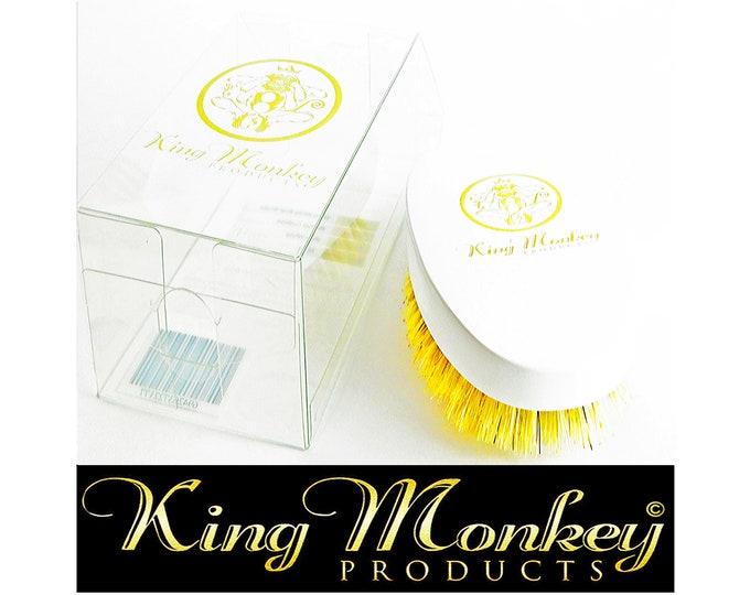 Featured listing image: KING MONKEY PRODUCTS Model 1776 - Limited Edition White Hard Boar Bristle Unisex Cushion Hair & Beard Brush