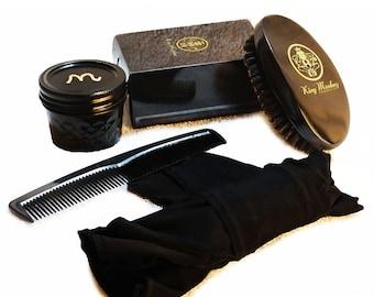Unisex Medium Black Wave Brush Kit