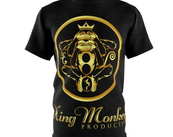100% Polyester Unisex T-Shirt - Small - 3XL By King Monkey Products