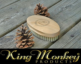KING SCORPION 360 Wave Brush - (soft) Boar Bristle - UNISEX - Oval Palm Hair Brush Also Great on Beards By King Monkey Products
