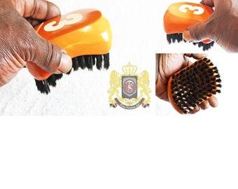 540 WAVE BRUSH: Small Oval King Scorpion 360 Wave Brush - (Medium) 9 Row Tight