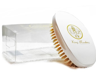 King Monkey Products | Boar Bristle Hair Brush - Hard White