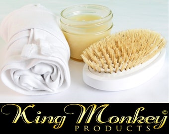 Hard Boar Bristle Cushion Hairbrush Gift Set - King Scorpion 360 Cotton Du-Rag - 4 oz. Uncle Jones Pomade - Hard Unisex Cushion Hair Brush