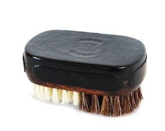 Beardhog Custom Leather Top Mixed Bristle Oval Face & Beard Brush by King Monkey Products