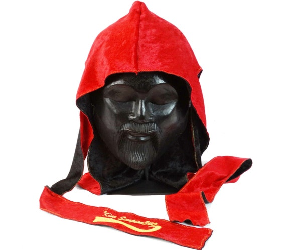 Red Reversible Velvet Du-Rag | King Scorpion 360
