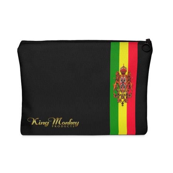King Monkey Products Black Unisex Carrying Pouch  Flat