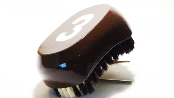 Brown Medium-Soft 540 Wave Brush | King Scorpion 360 Custom 360 Wave Brush With Glow Effect Logo