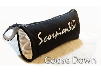 Goose Down Hair Brush Carrying Pouch - Made For All King Scorpion 360 Wave Brushes
