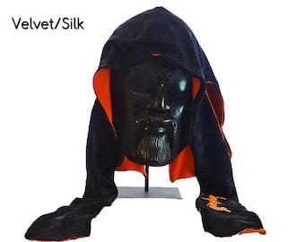 Reversible Multi-Color Velvet & Silk Fat-Lace Du-Rag