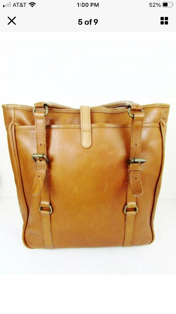 Vintage Claire Chase Leather Tote - image 3