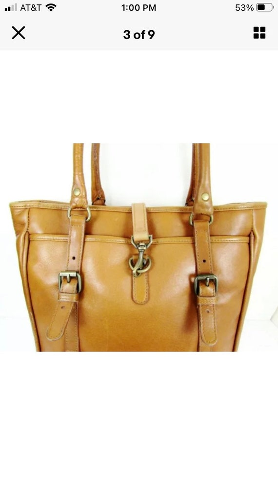 Vintage Claire Chase Leather Tote - image 2
