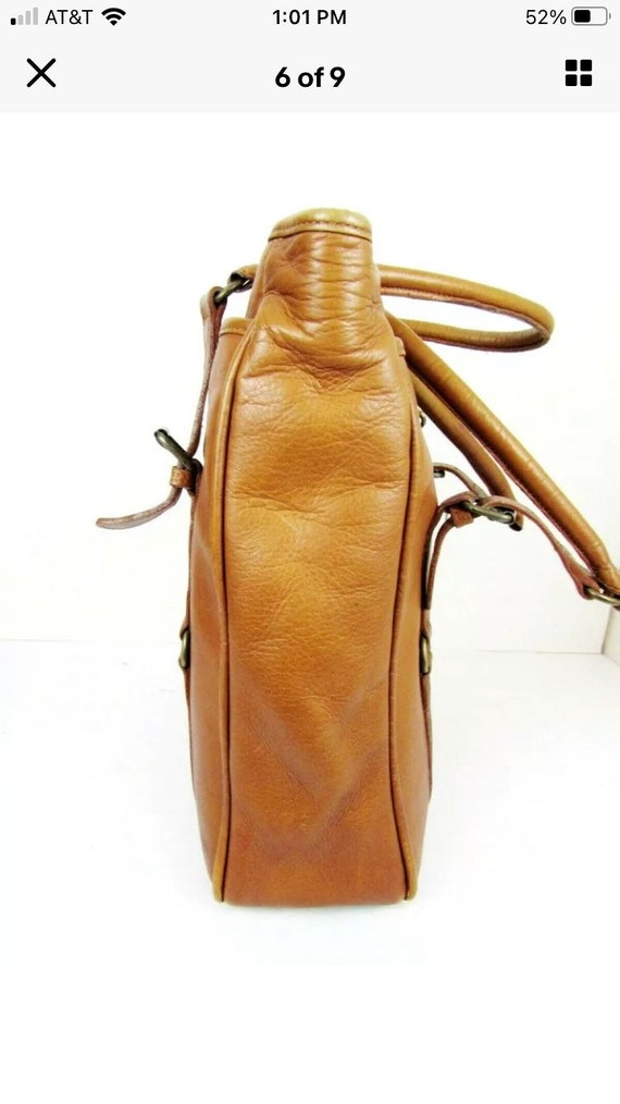 Vintage Claire Chase Leather Tote - image 8