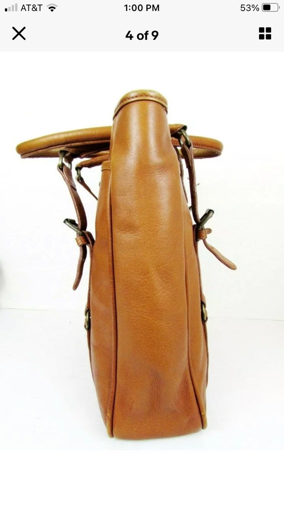 Vintage Claire Chase Leather Tote - image 7