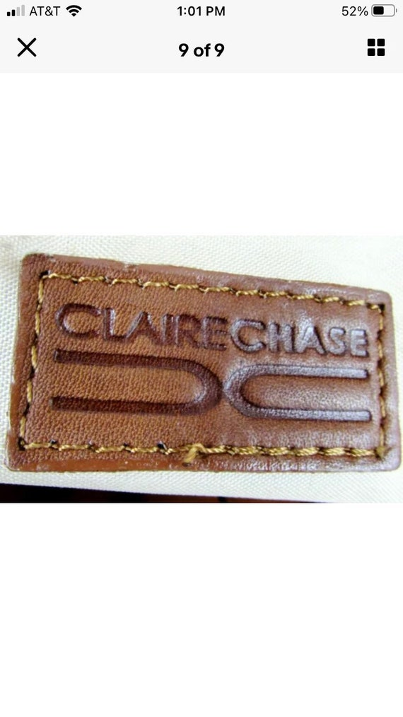 Vintage Claire Chase Leather Tote - image 5