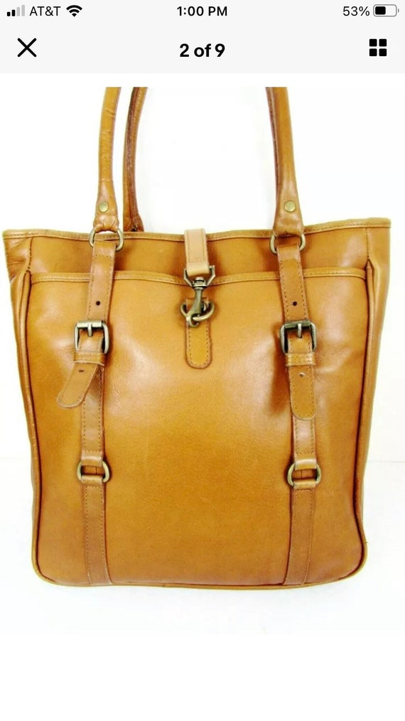 Vintage Claire Chase Leather Tote