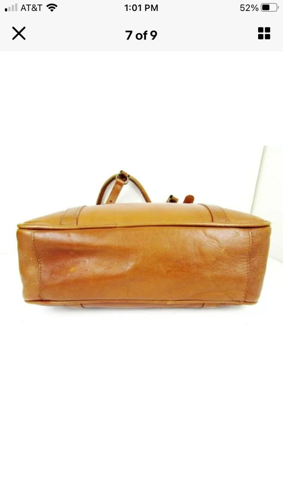 Vintage Claire Chase Leather Tote - image 4