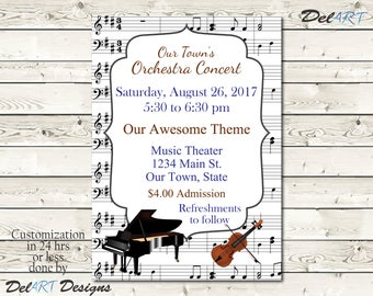 Recital invitation Etsy